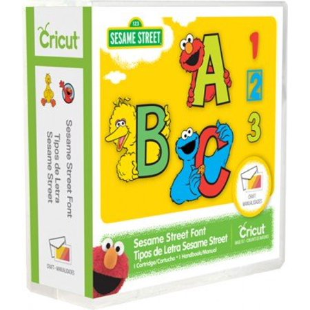 Sesame Street Font Cartridge, Use with All Cricut Machines By Cricut from (Best Cricut Cursive Font)