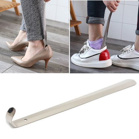 Metal Shoe Horn with Long Handle Stainless Steel Shoes Remover Shoehorn for Women Men Elder Pregnant Woman Wearing Shoe Sneaker