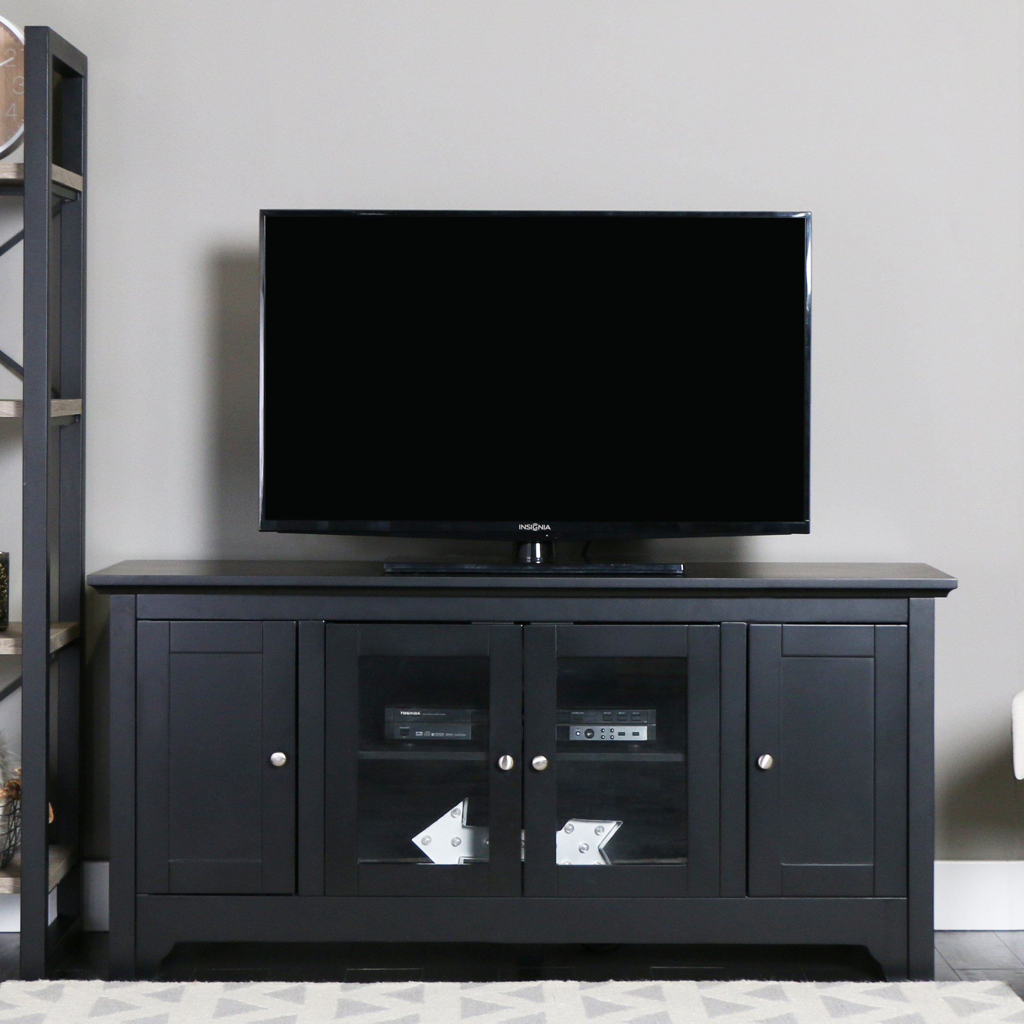 "52"" Black Wood TV Stand for TVs up to 55"", Muliple Colors"