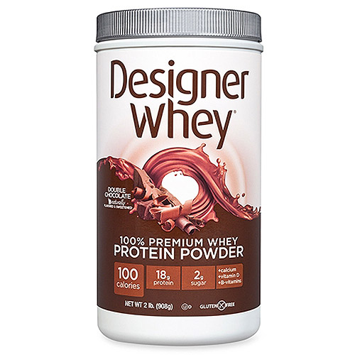 Designer Whey Double Chocolate Protein Powder, 2 lbs (Pack of, 4)