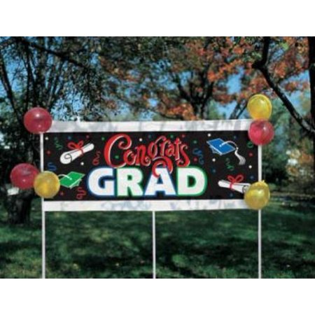 Congrats Grad Yard Banner w/ Stakes 20