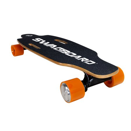 SWAGTRON Swagskate NG-1 Electric Longboard - Motorized Electric Skateboard with Wireless LED Remote
