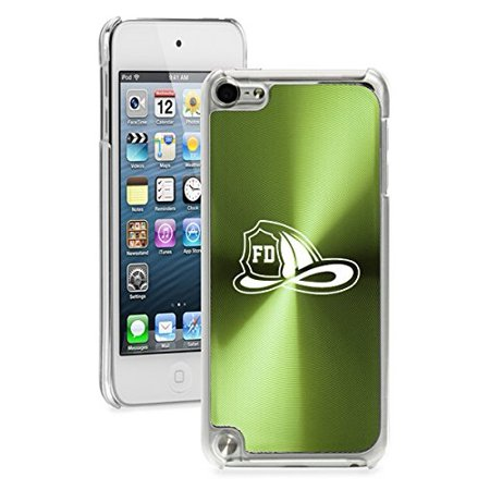 For Apple iPod Touch 5th / 6th Generation Hard Back Case Cover Firefighter Helmet (Green)](Firefighter Helmet Lights)