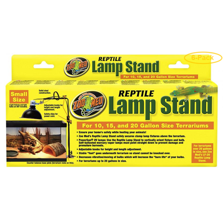Zoo Med Economy Reptile Lamp Stand Fits 10-20 Gallon Sized Terrariums - Pack of 6