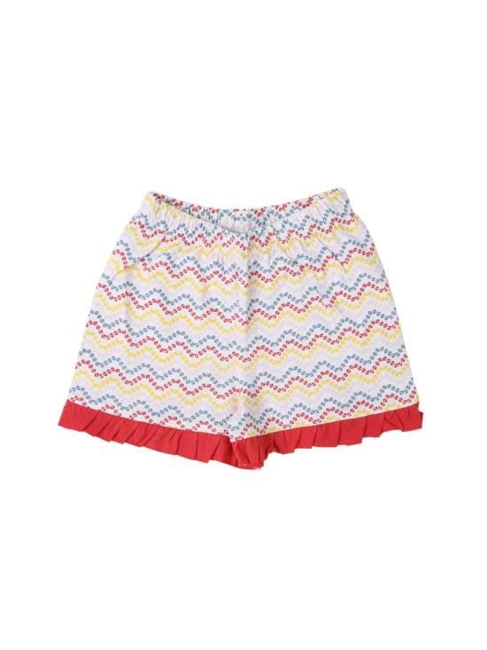 Coyote & Co. Baby Girl Ruffle Trim Knit Shorts