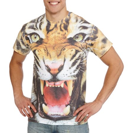 Tiger Face Sublimation Men's Graphic Tee
