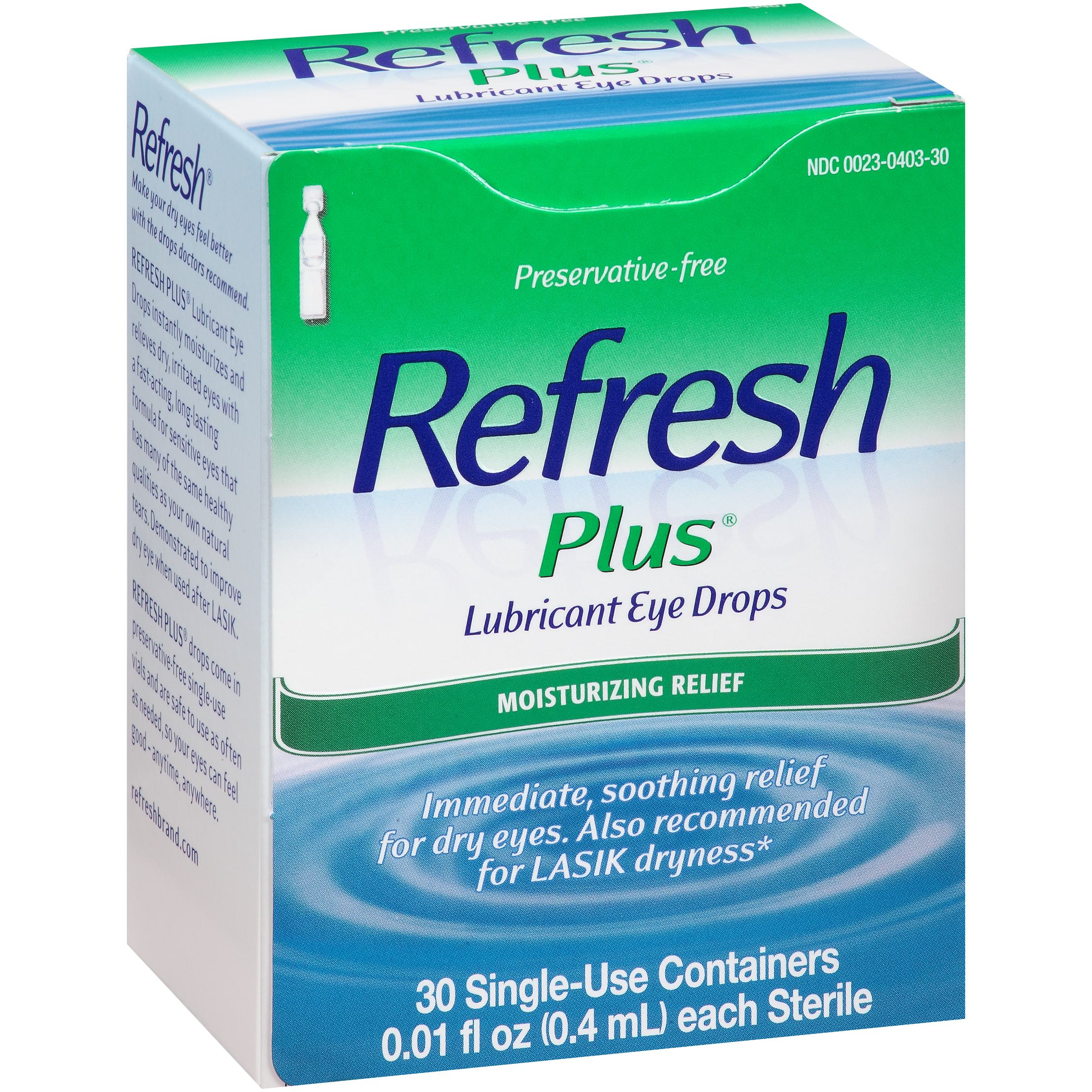 Refresh Plus® Lubricant Eye Drops 30-0.01 fl. oz. Tubes