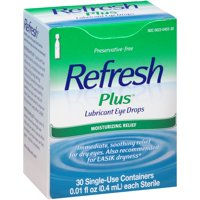 Refresh Plus Lubricant Eye Drops 30-0.01 fl. oz. Tubes