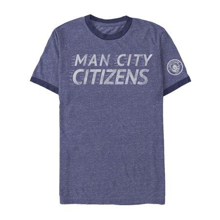 Manchester City Football Club Men's Man City Citizens Ringer - Halloween Club Nights Manchester