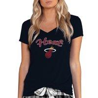 Miami Heat Concepts Sport Women's Marathon V-Neck T-Shirt - Black