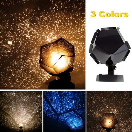 3-LED Romantic Astro Star Sky Laser Projector Cosmos Celestial Decoration Light Baby Sleeping Night Light Lamp Home Bedroom Decor DIY Self Assembly Birthday Gift Party