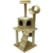 "ALEKO 47"" Cat Tree Condo Scratching Post Pet Furniture"
