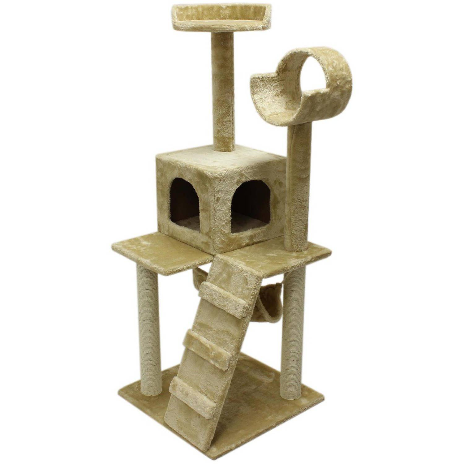 "ALEKO 47"" Cat Tree Condo Scratching Post Pet Furniture"