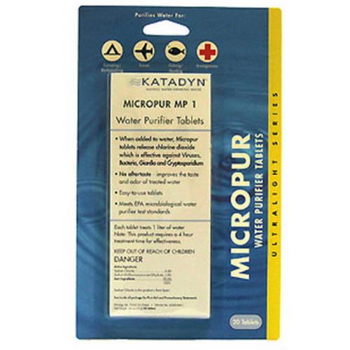 Katadyn Micropur Tablets, Per 20 by Katadyn