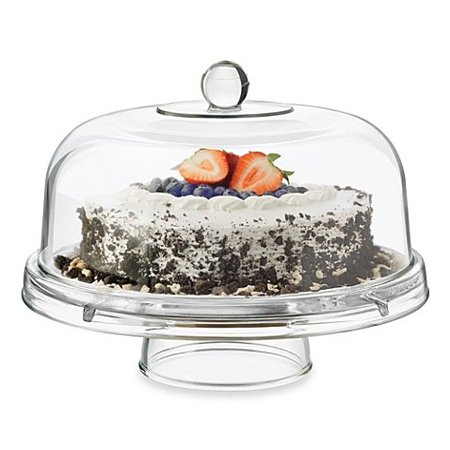 Glass 6 In 1 Footed Multifunctional Cake Dome 1 By