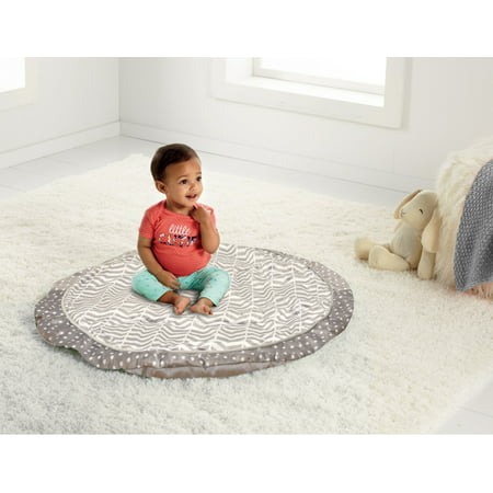 Parent's Choice Tummy Time Baby Nap Mat, Gray Chevron