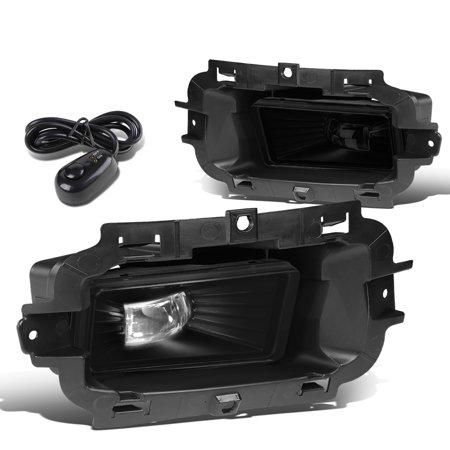 For 2014 to 2015 Chevy Silverado 1500 Pair Front Bumper LED Fog Light / Lamp+Switch Smoked Lens
