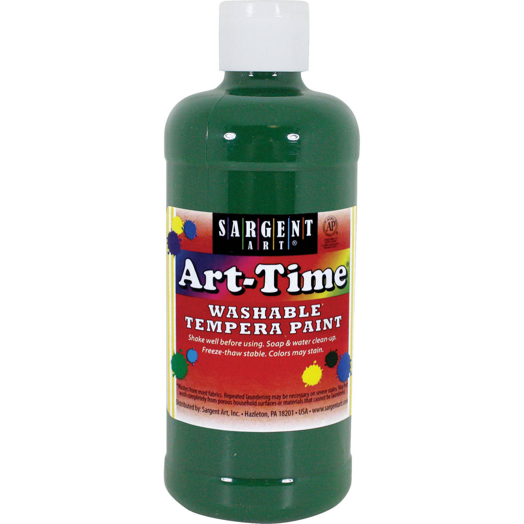 Sargent Art Green Tempera Paint, 16 Oz.