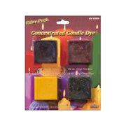 Yaley Candle Dye Block 1/2oz VP Red,Blu,Yllw,Grn