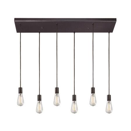 Pendants 6 Light With Oiled Bronze Finish Medium Base 30 inch 600 Watts - World of Lamp