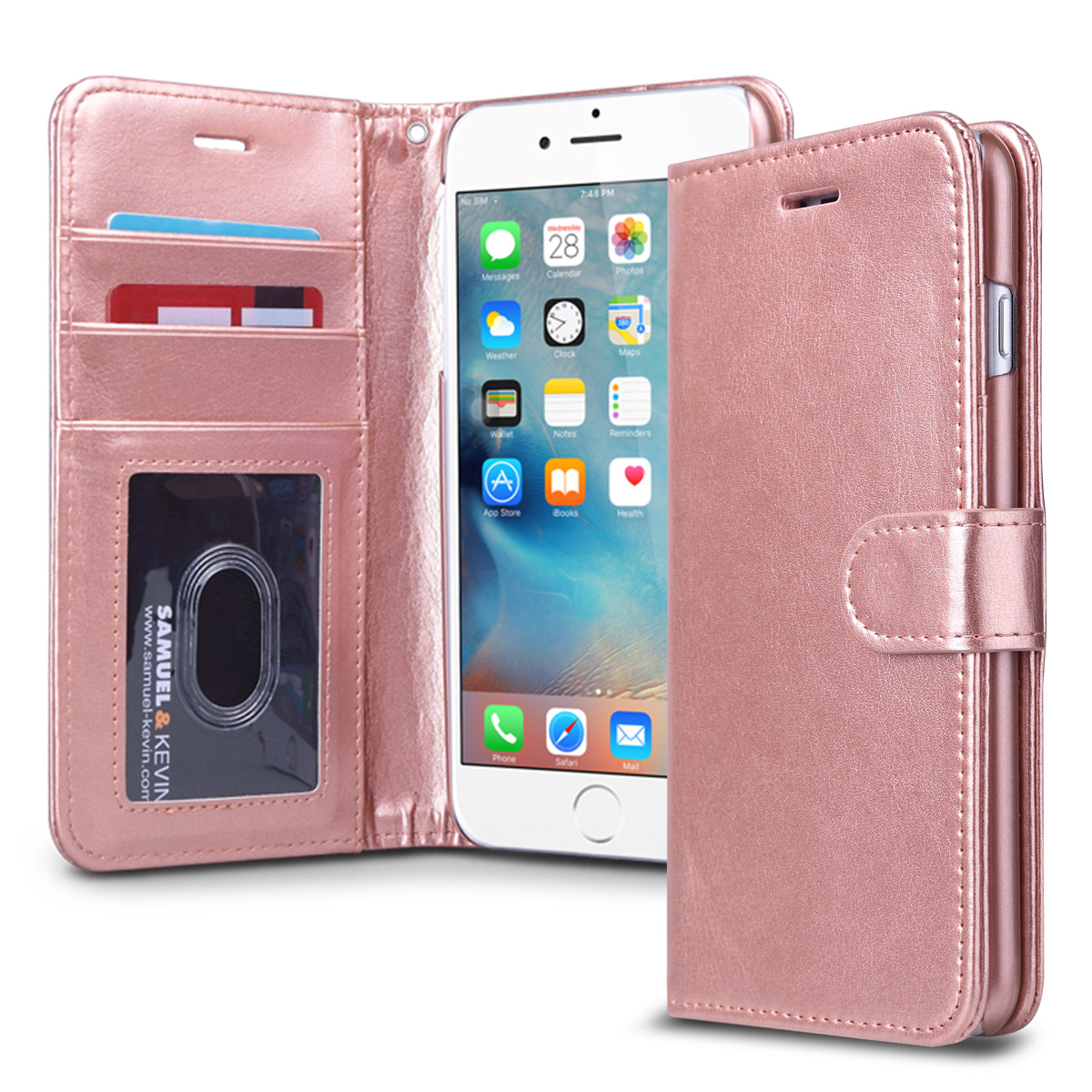 iphone 6s plus case, iphone 6 plus case, ulak magnetic premium pu