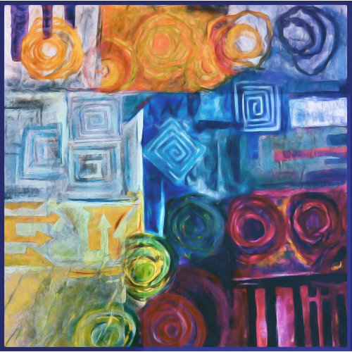 PTM Images Mixability Painting Print on Wrapped Canvas