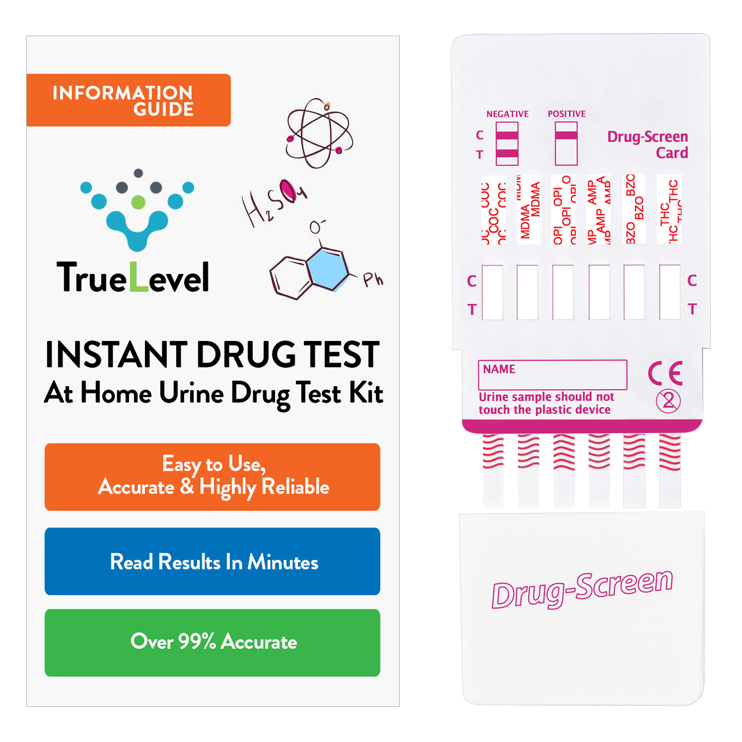 True Level 12 Panel Instant Urine Drug Test Multi-Drug Testing Kit Screen Dip Card (1 Pack)