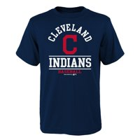 Youth Navy Cleveland Indians Arch T-Shirt