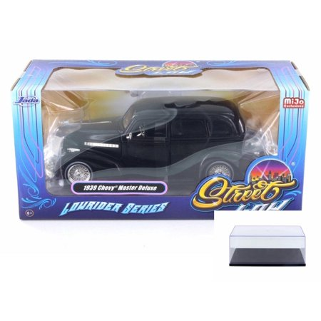 Diecast Car & Display Case Package - 1939 Chevy Master Deluxe, Black - Jada 98913-MJ - 1/24 Scale Diecast Model Toy Car w/Display (Swing Master Deluxe Chi Machine Model Usj201)