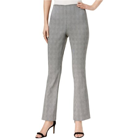 I-N-C Womens Plaid Bootleg Dress Pants