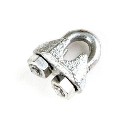 Red Hound Auto 1 Galvanized Zinc Plated Wire Rope Clip Clamp Chain 1/8 Inch M1 1mm