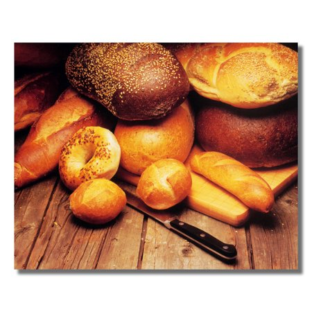 Bread Loaves on Cutting Board Kitchen Diner Photo Wall Picture 8x10 Art - Breed Wall