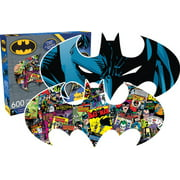 DC Comics Batman Vintage Comic Book Images 600 pc Two-Sided Shaped Jig