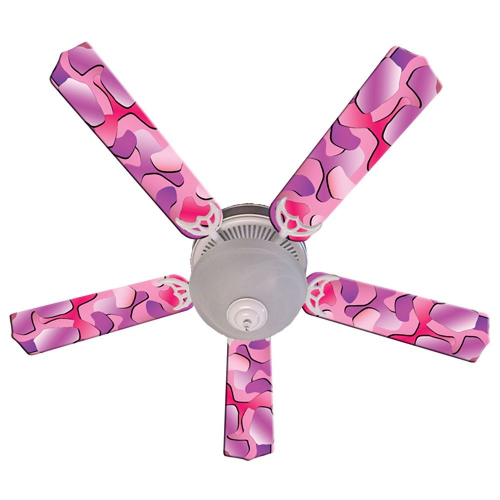 Ceiling Fan Designers Pink Camouflage Designer 52in Ceili...