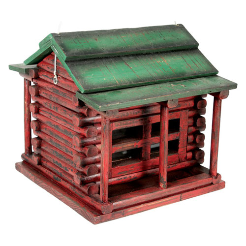 Rivers Edge Products Wood Log Cabin Birdfeeder