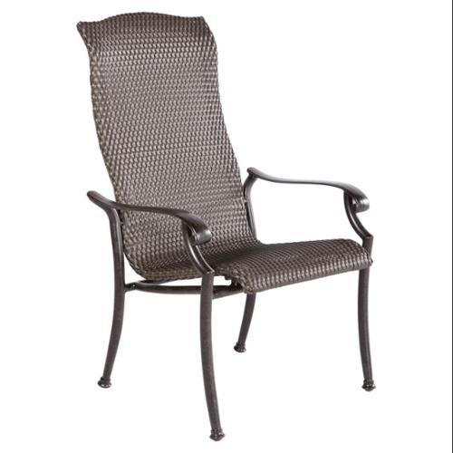 Barbados High Back All-Weather Wicker Dining Chair - Set of 2