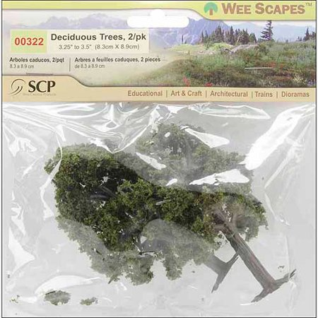 Architectural Model Supply - Wee Scapes Architectural Model Deciduous Trees 3-Pack