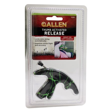 Thumb Activated Archery Release Black/Green by Allen
