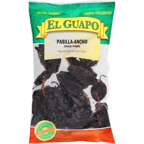 El Guapo Pasilla-Ancho Chile Pods, 11 oz
