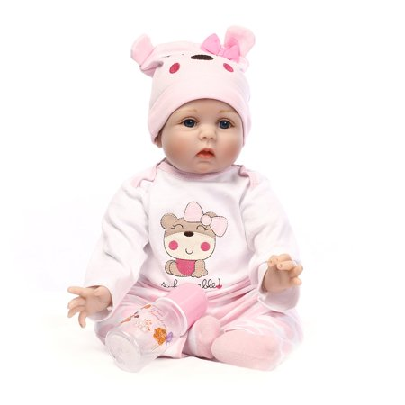 Cute Lovely Girls Realistic Silicone Reborn Newborn Baby Doll Play House Toy - image 10 de 10
