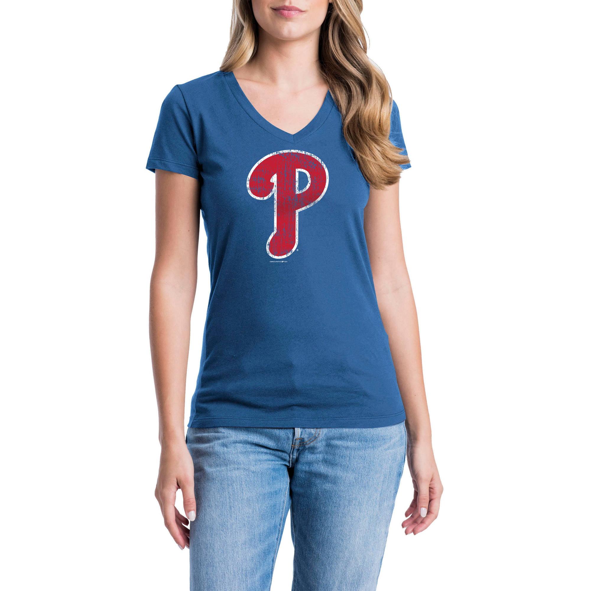 Philadelphia Phillies Womens Short Sleeve Graphic Tee