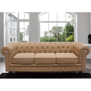 Madison Home USA Chesterfield Classic Scroll Arm Tufted Sofa