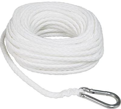 "3/8"" x 100' White Braid Poly Anchor Line Made Of Polypropylene Fibers Only One"