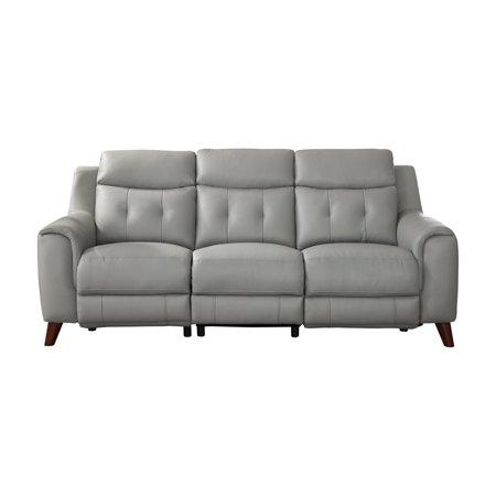 Hydeline Torino Leather Sofa Walmart Com