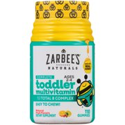 Zarbee's Naturals Toddler Complete Multivitamin Gummies with our Total B Complex and Essential Vitamins, Sweetened with Honey, Natural Fruit Flavors, 110 Gummies (1 Bottle)
