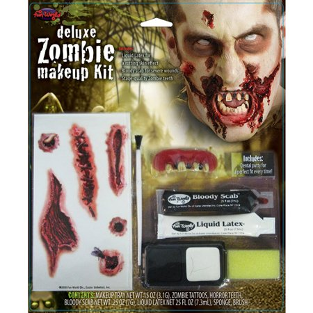 Halloween Zombie Nerd Makeup (Zombie Deluxe Kit Halloween)