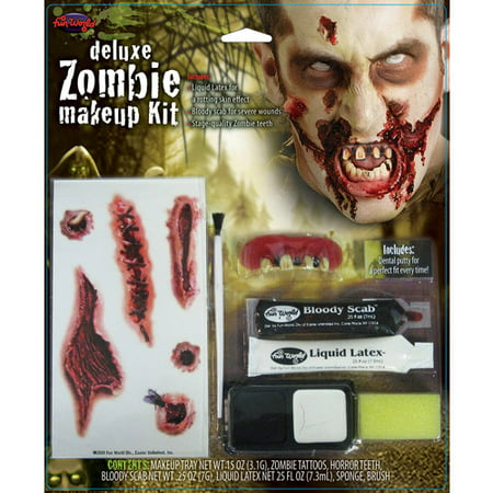 Zombie Deluxe Kit Halloween Makeup - Party City Halloween Makeup Kits