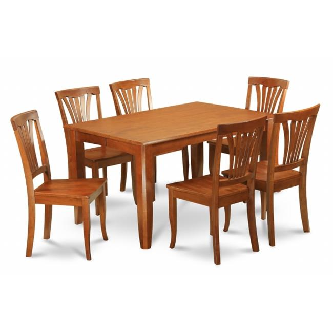 East West Furniture PFAV5-SBR-W 5-Piece Parfait Square Table with 18 in. Butterfly Leaf & 4 Wood Seat Chairs in Saddle Brown Finish