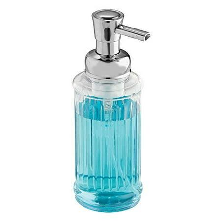 InterDesign Ella Foaming Soap Dispenser Pump, for Kitchen or Bathroom Countertops - Clear/Chrome