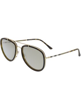 Burberry Men's Mirrored BE3090Q-10525A-58 Brown Aviator Sunglasses
